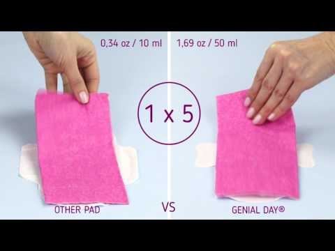 Genial Day Innovative, Patended, Organic Menstrual Pads for Easier, Irritation-Free Period