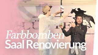 Saal Umbau - Farbbombe bauen | Kliemannsland