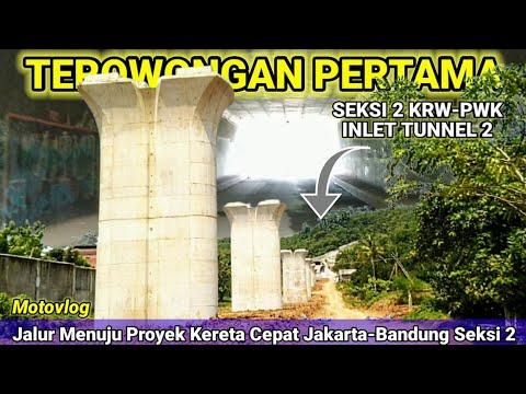 Terowongan Raksasa Pertama Seksi 2 Proyek Kereta Cepat Jakarta-Bandung KCIC 2021