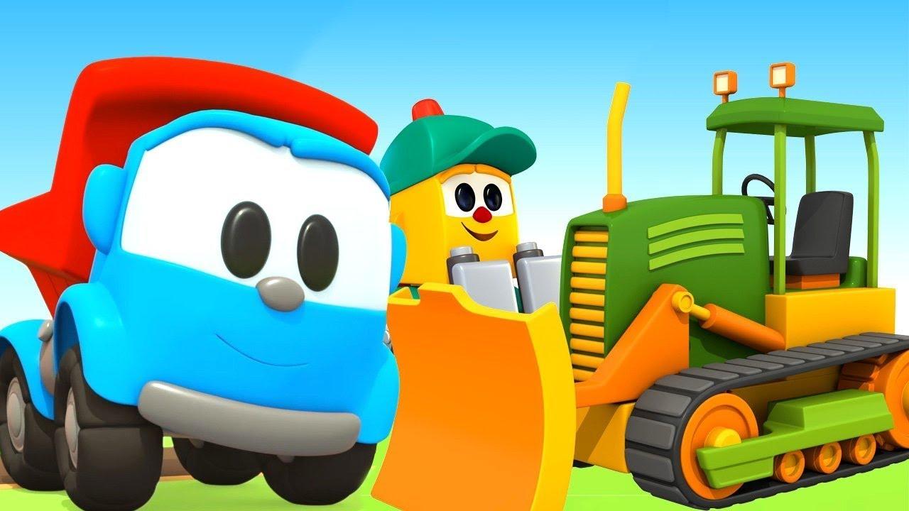Leo der Lastwagen baut einen Bulldozer. Cartoon für Kinder ...