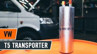 Montavimo benzinas ir dyzelinas Kuro filtras VW TRANSPORTER: vaizdo pamokomis