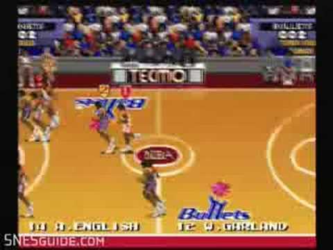 Tecmo Super NBA Basketball - SNES Gameplay