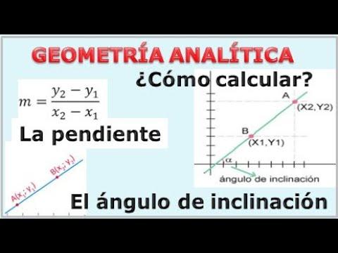 C Mo Calcular La Pendiente Y El Ngulo De Inclinacion 1