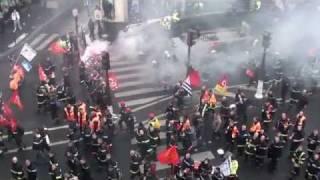 Manifestations des Pompiers à Paris le 3 Novembre 2011