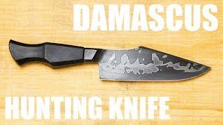 Forging a Damascus Hunting Knife - Blacksmithing