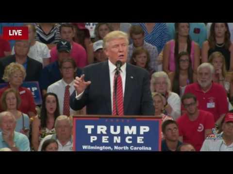 Donald Trump on Hillary Clinton, Wilmington, NC, 8/9/16