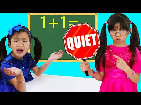 Emma & Jannie Pretend Play Choosing Teacher Profession For Kids