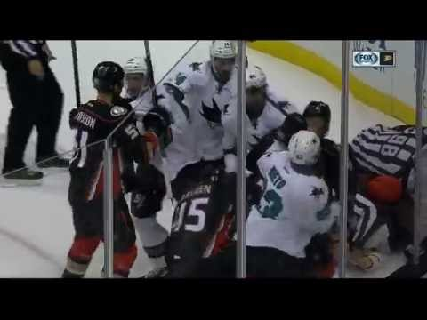 Gotta See It: Sharks and Ducks have a preseason line brawl