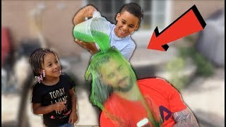 Slime Prank on Daddy! | FamousTubeKIDS