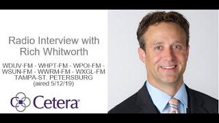 Rich Whitworth Interview with WDUV-FM - WHPT-FM - WPOI-FM - Tampa-St. Petersburg - 5/12/19  | Cetera