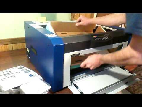 Epilog Mini 18 laser engraver unboxing video