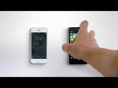 Microsoft New Ad ( Cortana vs Siri ) Windows Phone 8.1