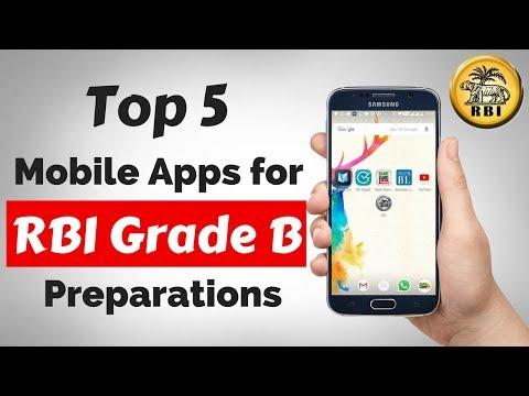 Top 5 Mobile Applications RBI Grade B Preparations