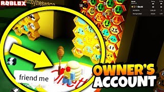 i played as the owner of bee swarm simulator IN bee swarm simulator, this is how... (roblox)