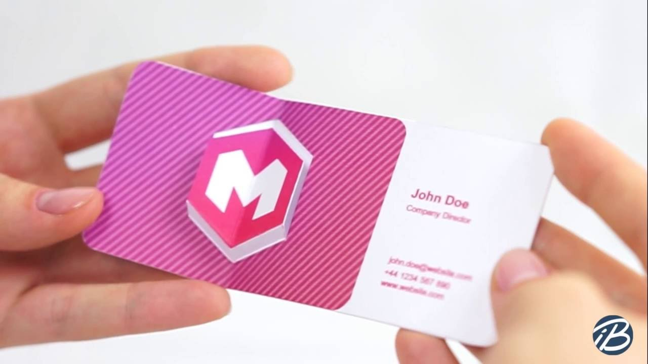 COOL 3D BUSINESS CARD 1 YouTube