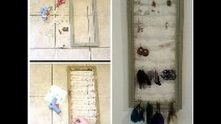 Diy Picture Frame Earring Holder
