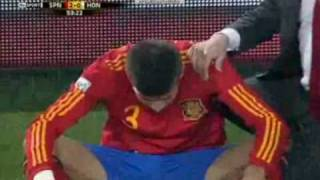 Gerard Piqué gets owned by the World Cup 2010