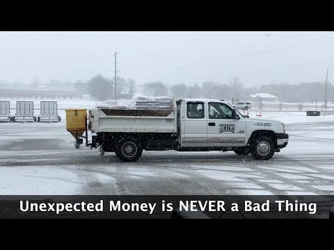 Unexpected Snow Storm | Working on Lawn Care Equipment