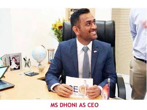 MS Dhoni a man of many talents Turns Gulf Oil India CEO for a day