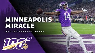 NFL's 100 Greatest Plays, No. 9: Stefon Diggs and The Minneapolis Miracle | Minnesota Vikings