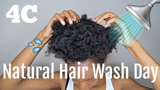 WASH DAY ROUTINE ON 4C NATURAL HAIR || 4C HAIR APPRECIATION ✨