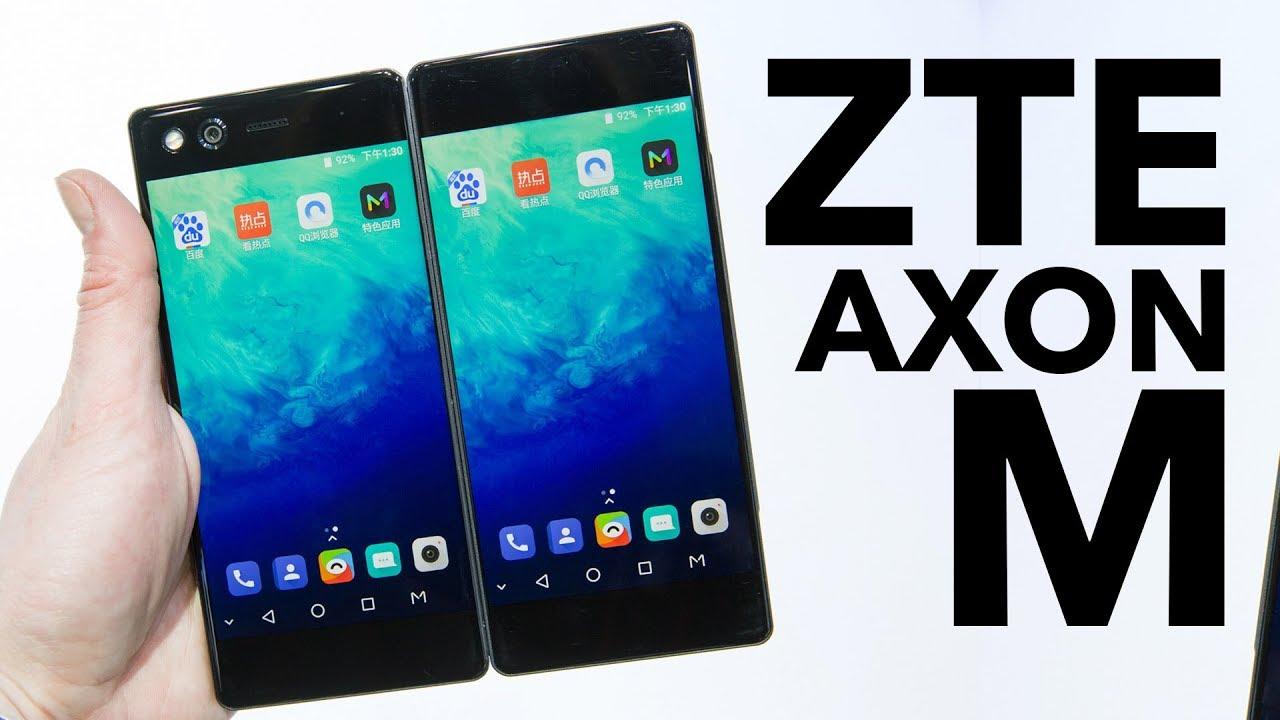 Zte Axon M Im Test Das Smartphone Mit Zwei Displays Im Hands On