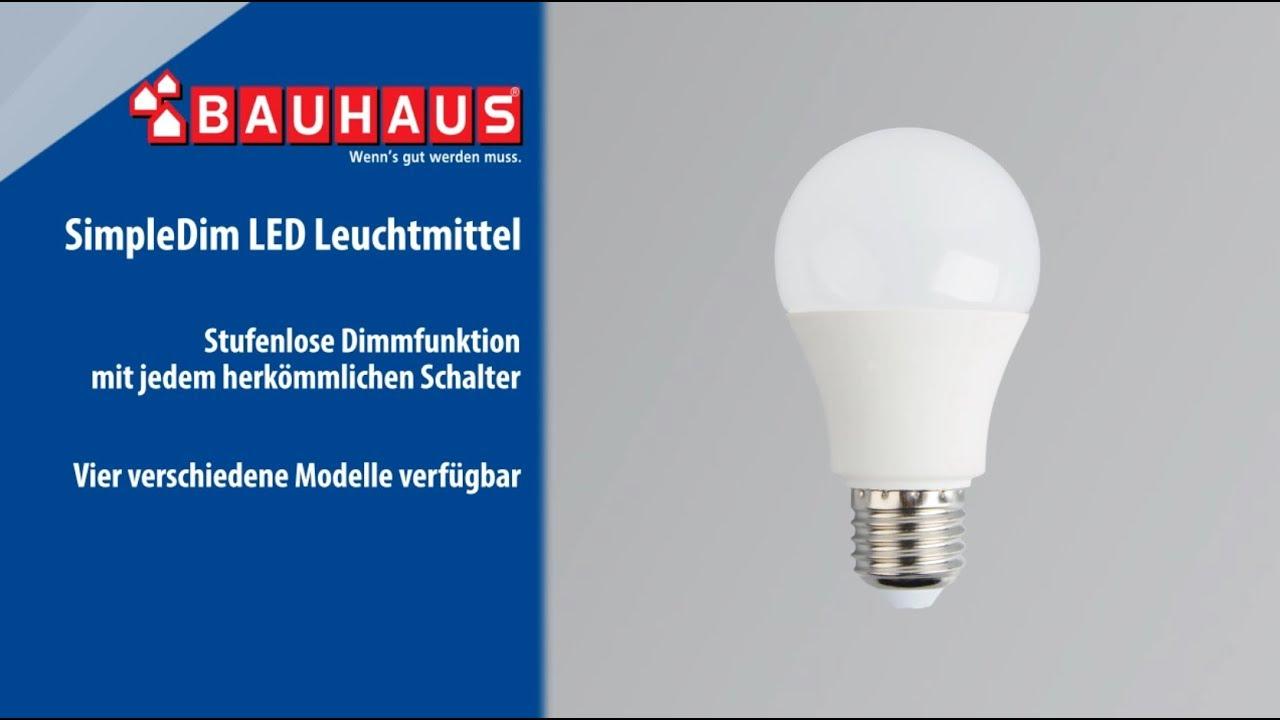 Simpledim Led Leuchtmittel Von Voltolux Bauhaus Youtube