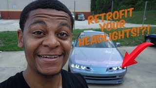 How to retrofit halos rings in headlights | Honda Prelude
