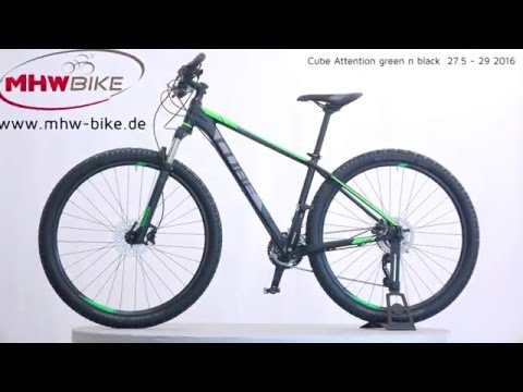 high quality new collection info for Cube Attention 27.5 / 29 black n green 2016 - MHW Bike-House GmbH