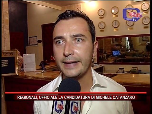 REGIONALI, UFFICIALE LA CANDIDATURA DI MICHELE CATANZARO