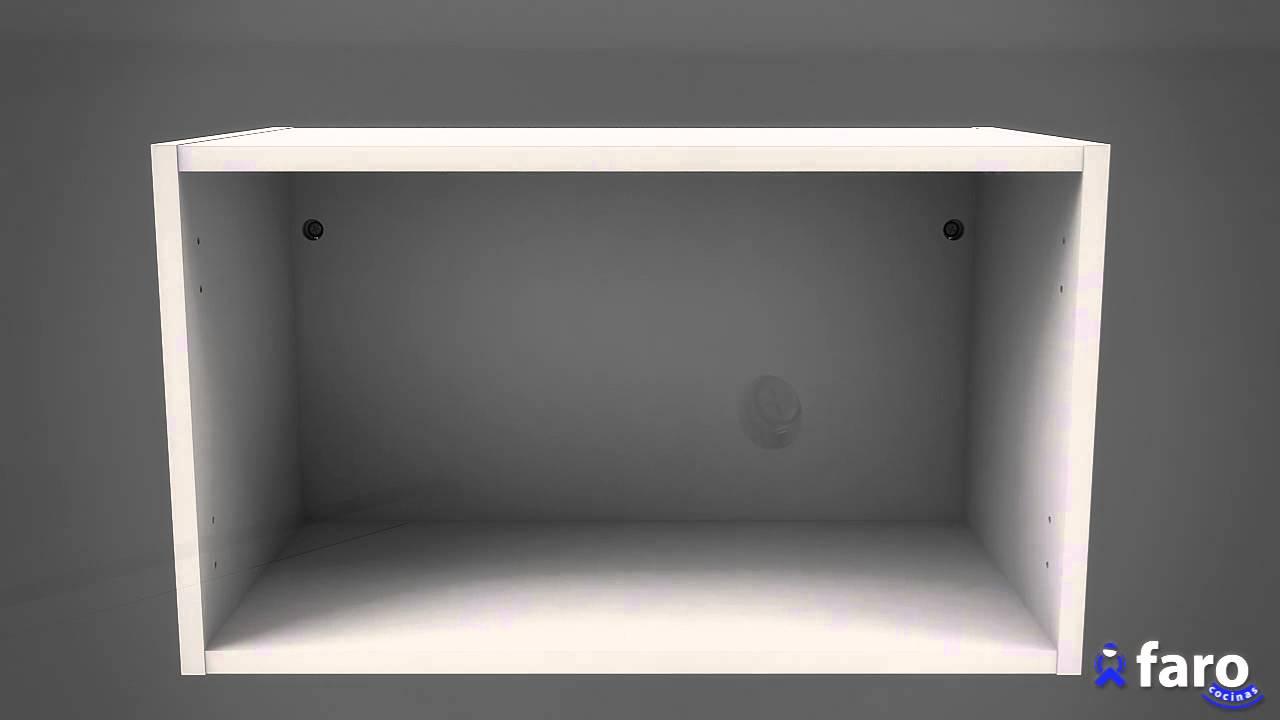 Instrucciones de montaje de mueble transversal 1 puerta for Mueble de cocina 3 puertas
