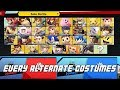 Every Alternate Costumes / Skins/ Colors in Super Smash Bros. Ultimate!