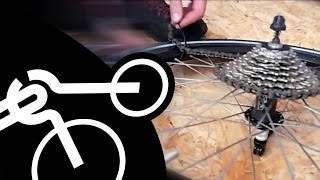 How to change cassette on the road without the chain whip tool (not only for AZUB recumbents)