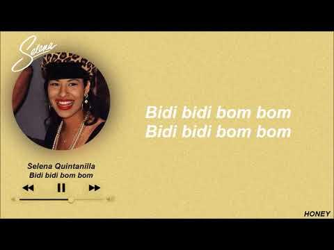 Selena Quintanilla Bidi Bidi Bom Bom Letra Youtube