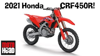 Download Lagu 2021 Honda CRF450R: The all-new production four-stroke motocross bike is here! mp3