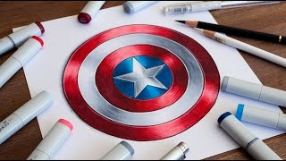 How To Draw Captain America's Shield