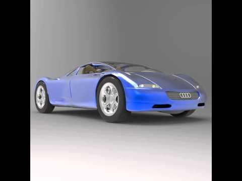 Audi Avus Quattro (Studio Max) 3D model from CGTrader.com