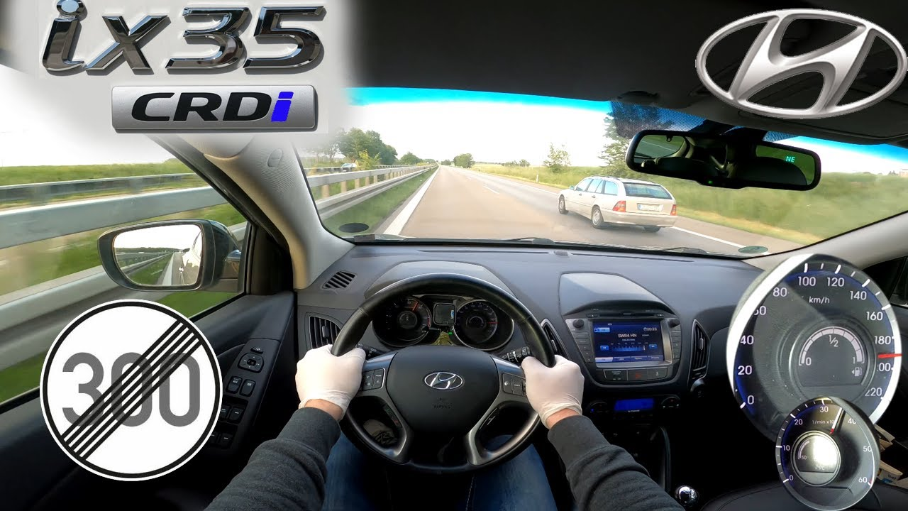 Hyundai ix35 2.0 CRDi TOP SPEED NO LIMIT AUTOBAHN GERMANY
