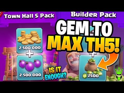 HOW FAR WILL $25 OF GEMMING GET US?! - Gem The Rushed TH5 - Clash Of Clans
