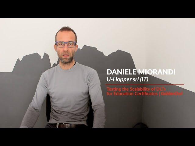Experimenters' feedback - Daniele Miorandi   U-Hopper srl (IT)