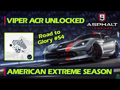 Asphalt 9 - F2P RTG #54   Viper ACR Unlocked + American Extreme Season