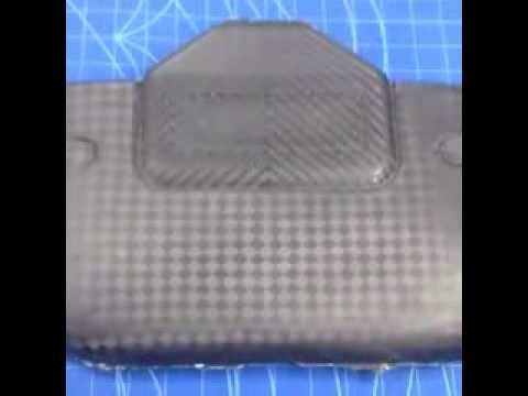 look carbon fiber engine cover by Carbon Fiber Art