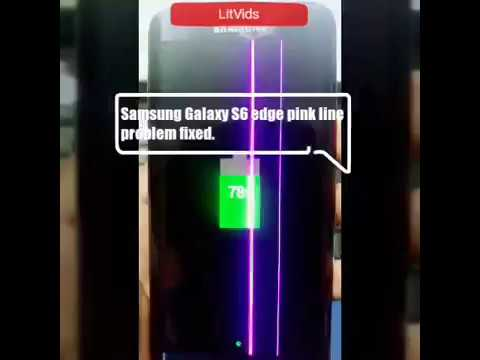 Samsung galaxy s6 edge pink line fix | Solved |