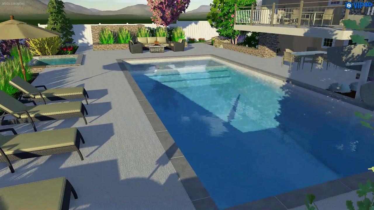 FORM POOLS 3D Design Preview Draper, Utah - YouTube