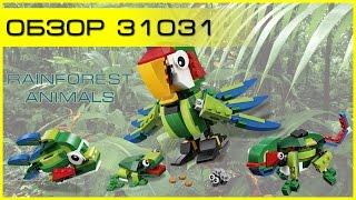 Обзор - LEGO Creator 31031 Животные джунглей (Rainforest Animals)