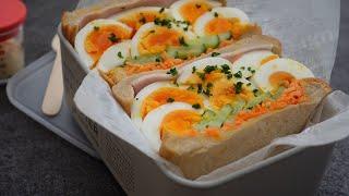 ゆで卵サンドイッチ|cook kafemaruさんのレシピ書き起こし
