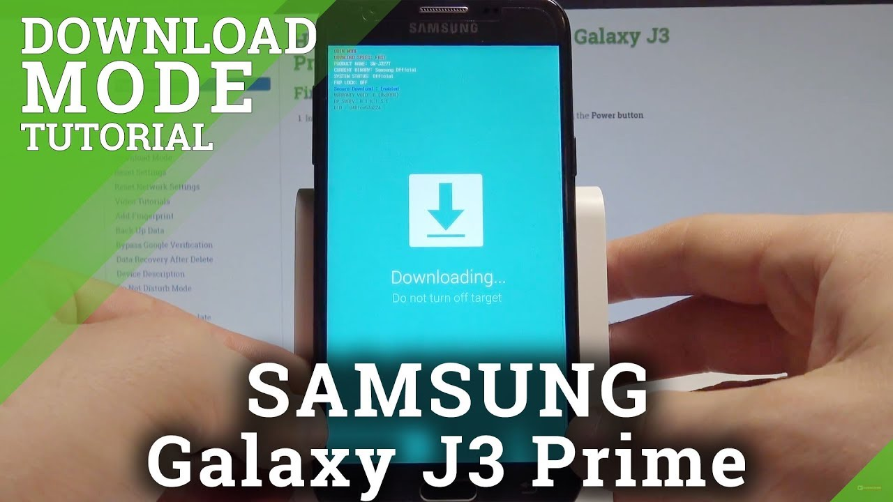 How to Enable Download Mode on SAMSUNG Galaxy J3 Prime - Download Mode  Tutorial