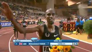 MO FARAH Won 5000m men Monaco Diamond League 2011