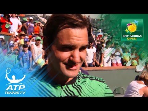 Roger Federer interview after winning 2017 BNP Paribas Open | Indian Wells 2017