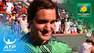 Roger Federer interview after winning 2017 BNP Paribas Open | Indian Wells 2017